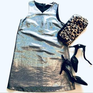 & Other Stories Metallic A-Line Dress, Size 6